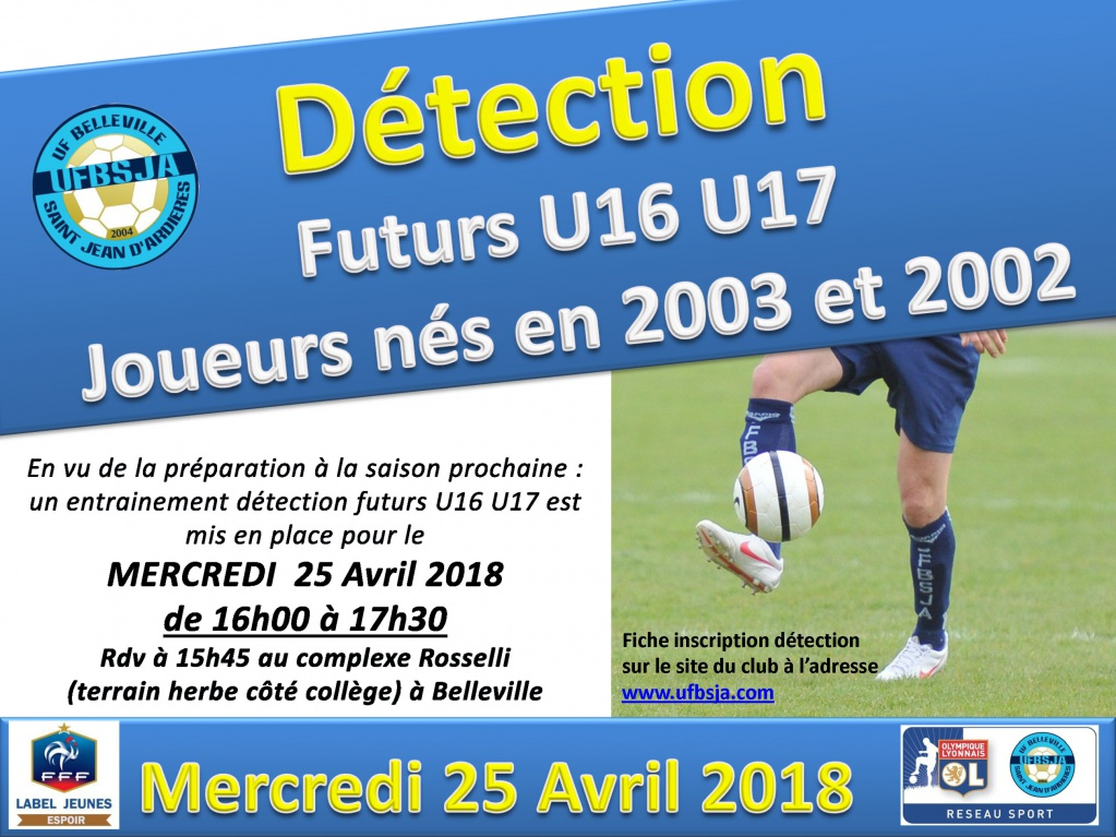Détection futurs U16/17 - 25 Avril