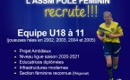 Recrute Joueuses pour Equipe U18 F