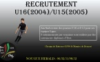 Recrutement U16/U15 Ligue