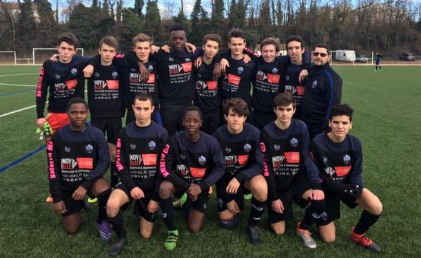 Les U17 de l'UODL Tassin sont désormais leader de la poule A de Promotion d'excellence