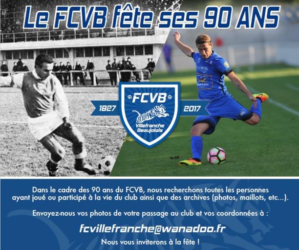Anniversaire - Le FC VILLEFRANCHE recherche...