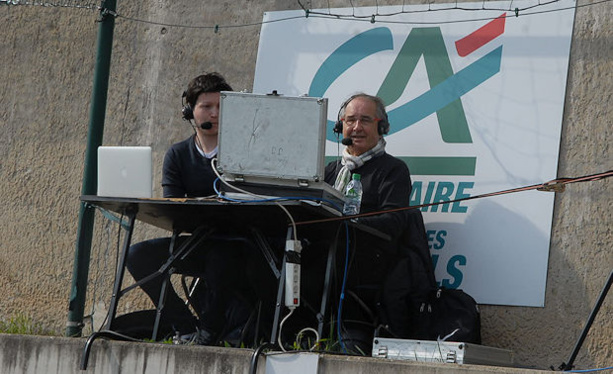 Pierre Longère est passé derrière le micro pour commenter le match de La Duch' en direct sur FFFTV