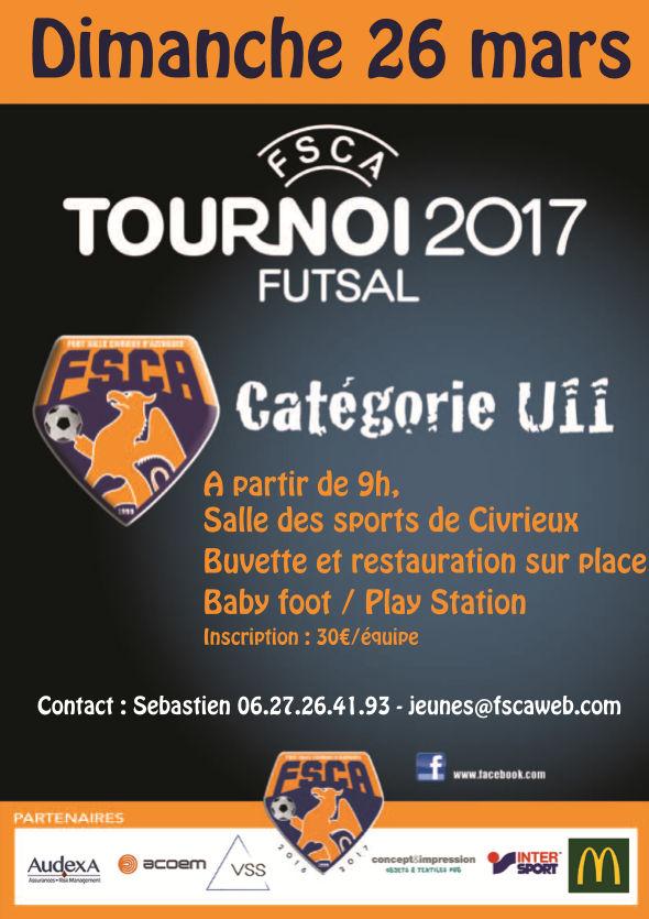 FUTSAL U11 - Foot Salle CIVIRIEUX d'Azergues organise dimanche
