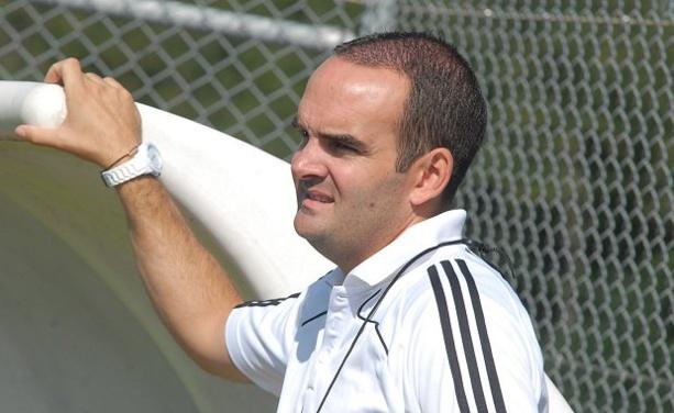 Nicolas Pinard, l'entraîneur du FC DOMTAC