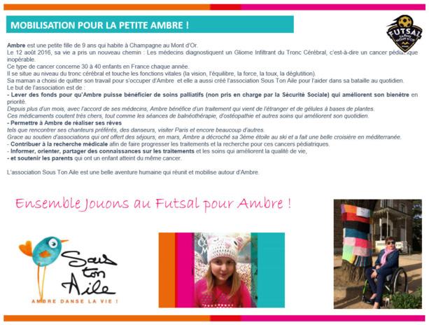 U10-U13 - Tournoi solidaire pour AMBRE le 22 avril