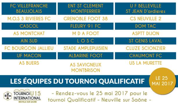 Tournoi INTERNATIONAL U15 NEUVILLE - Découvrez les 24 du préliminaire