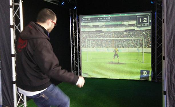 Tir sur écran géant virtuel