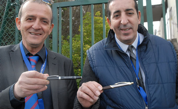 Mustapha Guissi (vice-président US Vaulx) et Saad Khalfaoui (entraîneur O. Vaulx) seront au deuxième tour de la Coupe de France