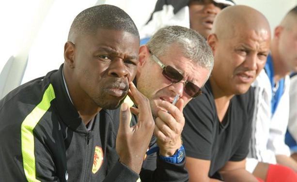 Ludovic Assemoassa et Thierry Nicolaud, repectivement entraîneur et entraîneur adjoint de la réserve de Lyon-Duchère AS