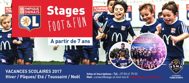 Stage OL Foot&Fun - Inscrivez votre enfant au prochain stage de la Toussaint !
