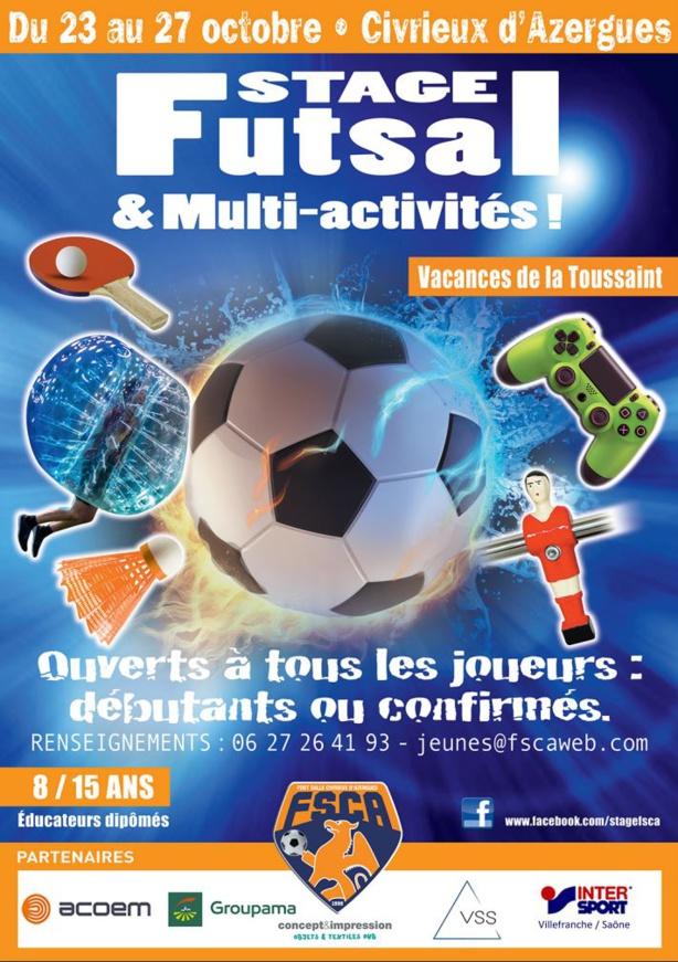 Stage Jeune Toussaint - Il reste quelques places pour le STAGES Multi-Activités du FSCA !