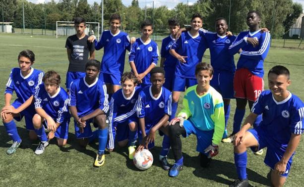 18 buts pour les U17 de l'Eveil de Lyon en Coupe du Rhône contre leurs homologues du FC Rhône-Sud pour une spectaculaire victoire finale sur le score de 18 à 2 !