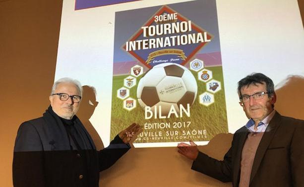 Michel Mathey (conseiller-délégué aux sport Neuville) et Gilles Magat (responsable du tournoi du Challenge Piana)