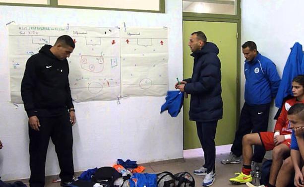 Mehdi Gana (à droite), ici en compagnie de Samir Mertani, le responsable des U15 Elite de l'AS Minguettes