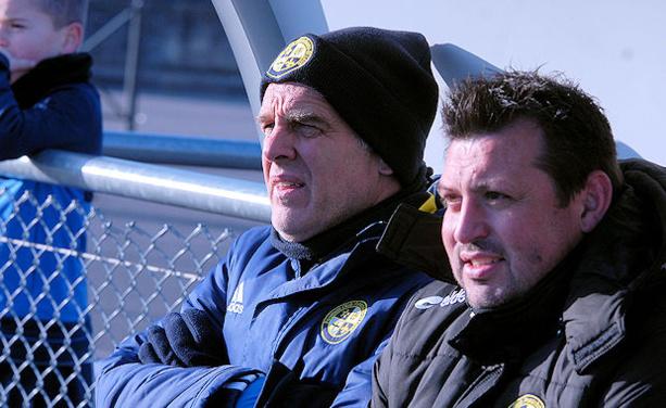 Eric Salignat, l'entraîneur du FC Pontcharra Saint-Loup