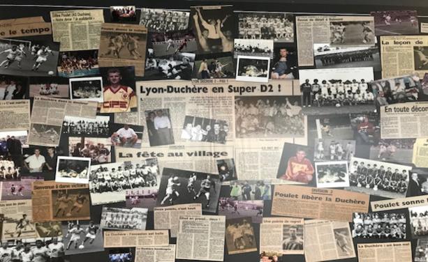 Le mur ou Gil Poulet a affiché tous les souvenirs de sa riche carrière, particulièrement à La Duchère.