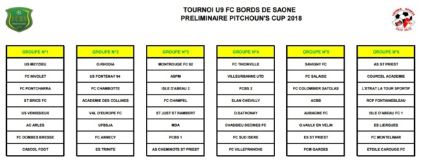 U8-U9 – La PITCHOUN'S Cup s'invite au FC BORDS de SAONE ce week-end