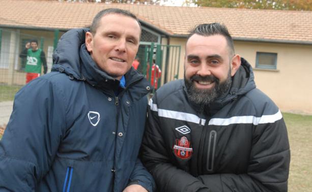 Victor Pedreiro et Valentin Lori, un des deux sera forcément déçu demain soir à l'issue du derby de la Poule F de R3