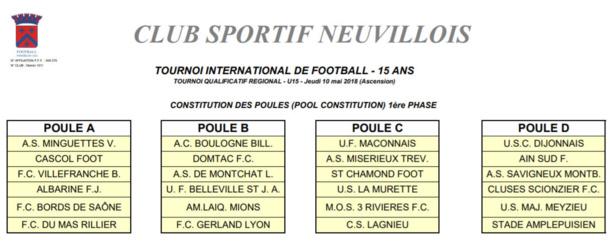 Tournoi International U15 CS NEUVILLE - Deux places qui valent chères