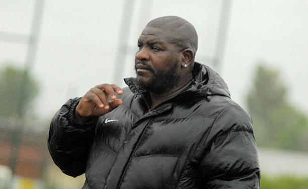 Laurent Coquin, coach du FC Vaulx C