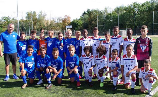 Ls U12 du FC Villefranche, vainqueurs de leurs homologues lyonnais.