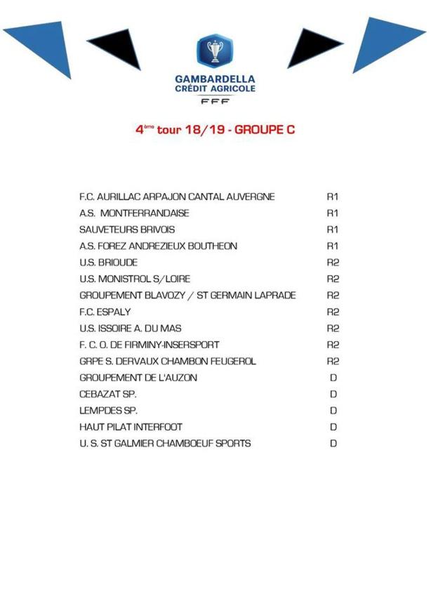 GAMBARDELLA U19 - Le tirage du QUATRIÈME TOUR est dévoilé
