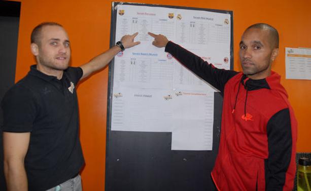 Anthony Esparza et Willy Babot, les organisateurs de la Sun Set Soccer Cup U9