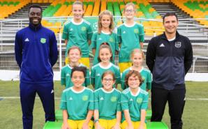 L'équipe U11 100% féminine du FC Bords de Saône