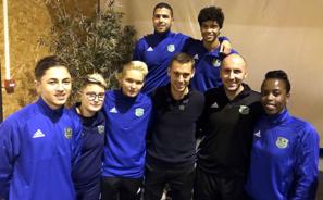 Avec les arbitres du club et Julien Bernard