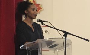 Laura George est venue parler de la Coupe du Monde Féminine dont Lyon sera la plaque tournante.
