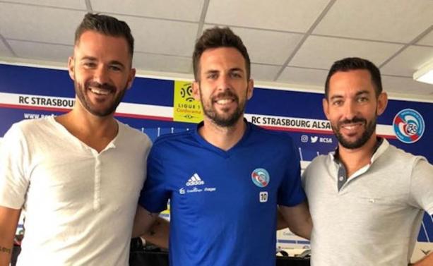 Yann Obitz et Florent Rivet ont été en personnes à Strasbourg pour convaincre Benjamin Corgnet de rejoindre le SPUFC dès l'été prochain.