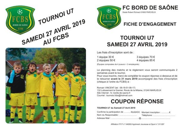 U7&U11 - Il reste des places pour le tournoi du FC BORDS de SAÔNE