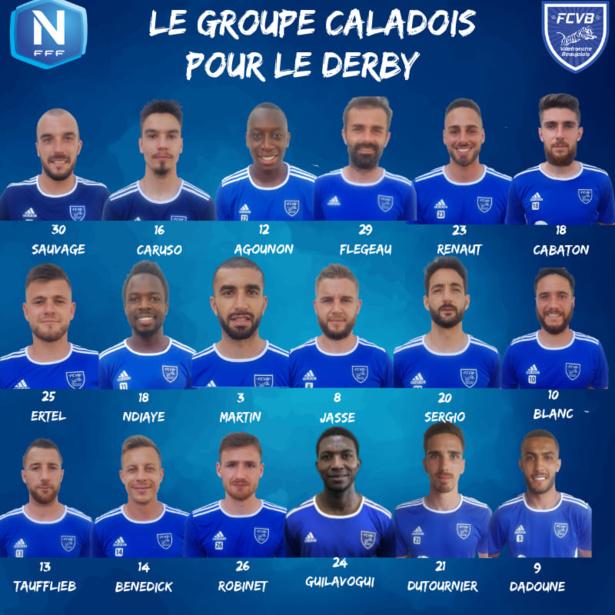 FC Villefranche Beaujolais : le groupe contre Lyon Duchère