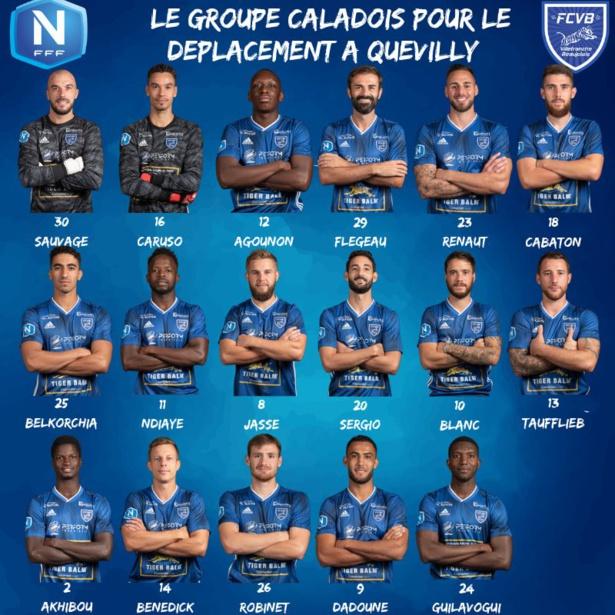 FC Villefranche Beaujolais : le groupe pour le déplacement à Quevilly