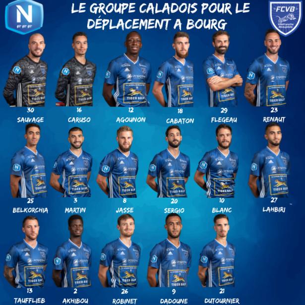 FC Villefranche Beaujolais : le groupe contre Bourg-Péronnas