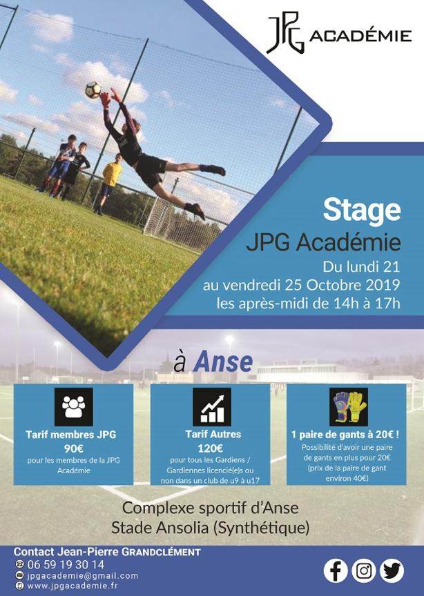 Les inscriptions sont ouvertes pour le stage de la Toussaint de la JPG Académie