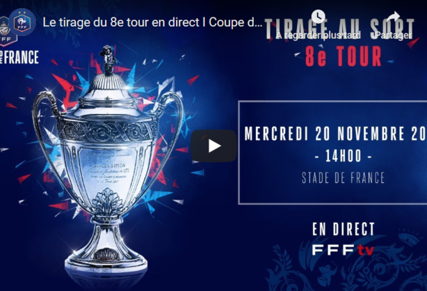 Suivez le tirage du 8ème tour de la Coupe de France en direct