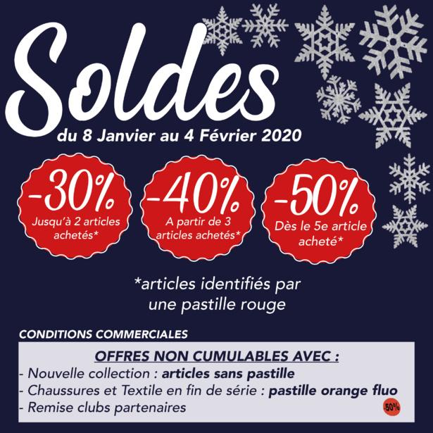 SOLDES 2020 - C'est en ce moment chez ESPACE SPORT CÔTIÈRE