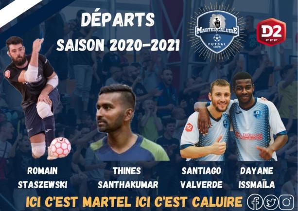 #Futsal Martel Caluire annonce plusieurs départs