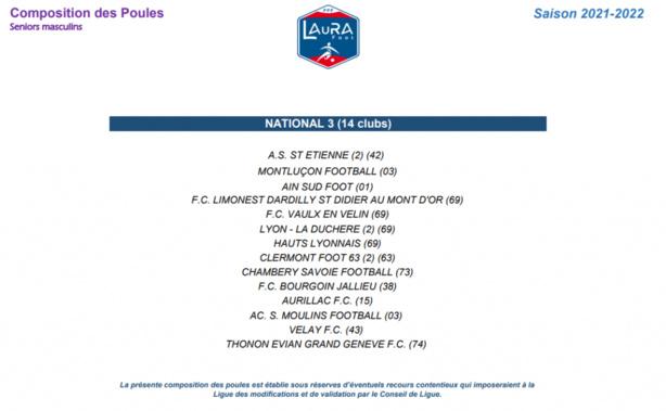 Championnats nationaux: le point pour les clubs du Rhône