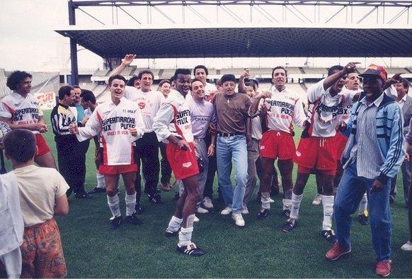 La montée en D4 fêtée sur le stade de Gerland en 92