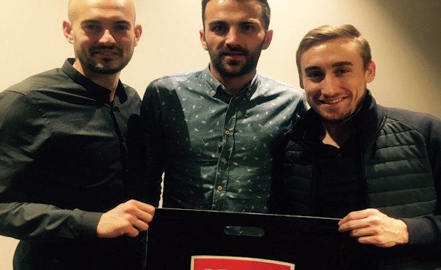 Remy Riou (FC Nantes), Yann Elbracht (FC Limonest) et Max Paysant (FC Limonest)