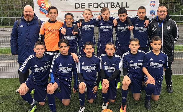 Le FC DOMTAC, champion du Rhône U13