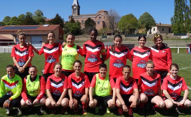 Les filles de Sud Lyonnais Foot 2013 sont championnes du Rhône !