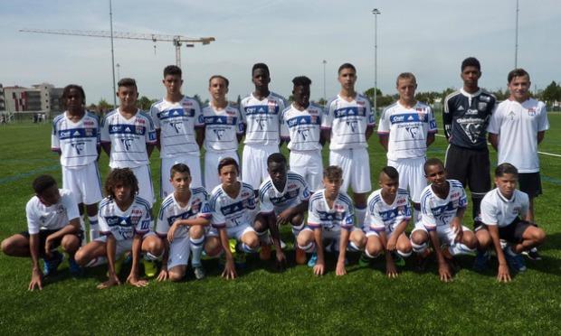 Les U15 ont triomphé de l'AS Saint-Etienne (crédit : olweb.fr)