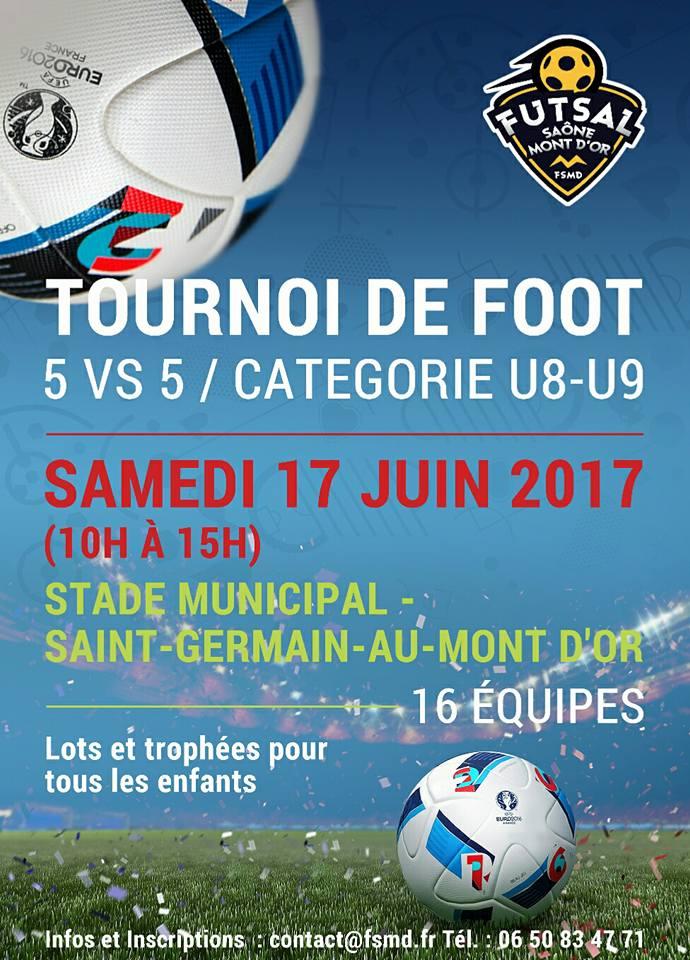 U8-U9 - Il reste des places pour le Grand TOURNOI de Saint-Germain au Monts d'Or