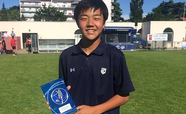 Le Japonnais Shibayama Masaya élu meilleur joueur du tournoi 2017