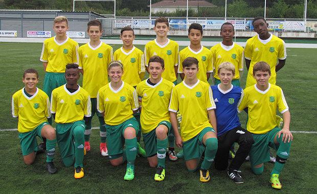 Les U15 A du FC Bords de Saône
