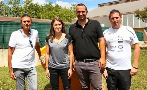 Anthony Stal (3ème en partant de la gauche) en compagnie de Bernard Archimbaud (1er), Stéphanie Maitre (3ème) et Fabien Deqesne (4ème)