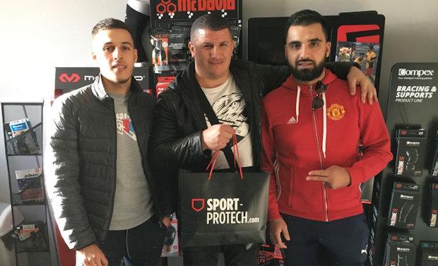 Yanis Hedroug (ex ASF Andrézieux), Ali Nechad (FC Ménival) et Oualid Ketfi (FC Ménival)